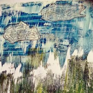 (Chiara Baldini - Monoprinting, acrilico su gelatina)